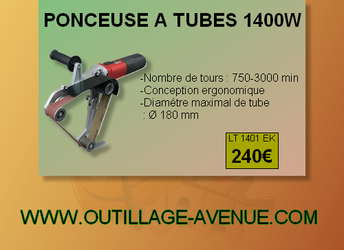 Ponceuse a tubes 1400 watts