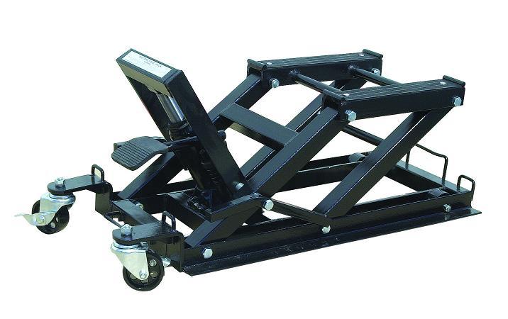 Table l vatrice hydraulique compacte 750 kg - Table leve moto hydraulique ...