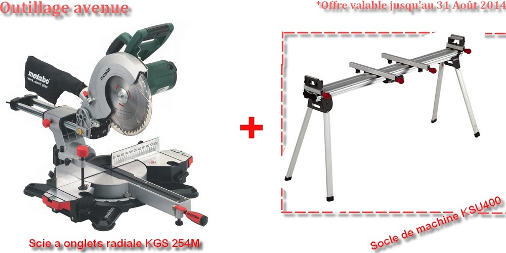 Lot scie a onglets radiale kgs 254m socle de machine metabo ksu 400 - Kgs 254 m ...
