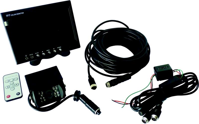 kit camera de recul 12 24v 17143 pas cher. Black Bedroom Furniture Sets. Home Design Ideas
