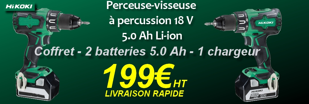 Perceuse-visseuse à percussion 18 V 5.0 Ah Li-ion DV18DBSL