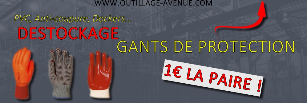 Promotions gants de protection